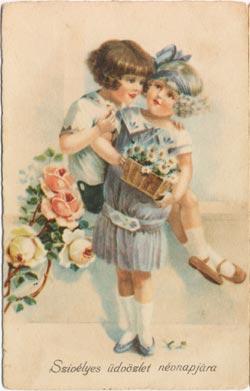 Névnapi képeslap