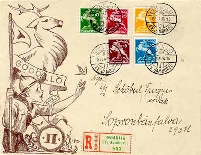 Cserkész Jamboree boriték bélyeg