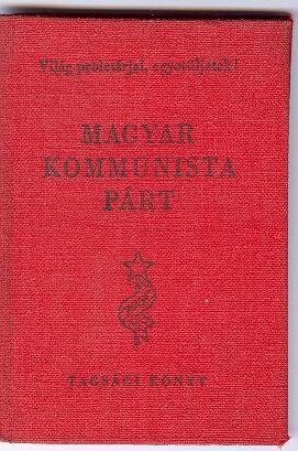 Magyar Kommunista Párt Tagsági Könyv