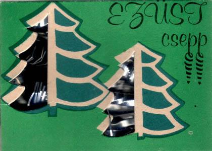 Karácsonyfa dísz Ezüst csepp