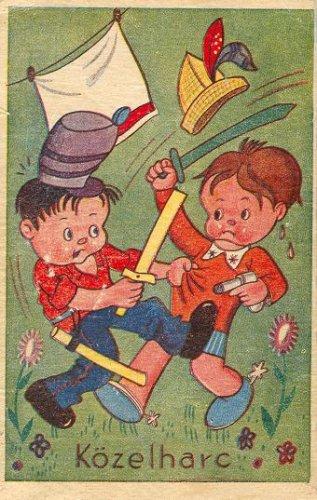 Közelharc képeslap