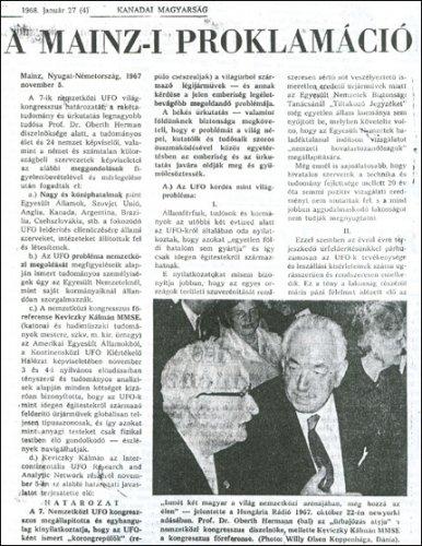 Kanadai Magyarság 1968. január 27. A mainzi proklamáció