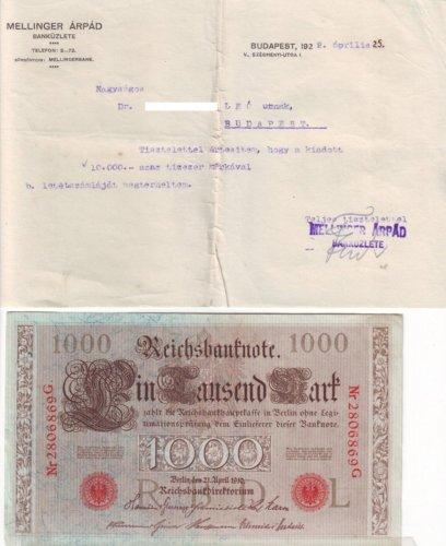 Tízezer márka 1922
