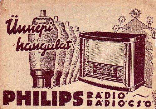 Philips rádió rádió cső