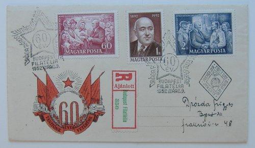 Rákosi hatvan éves boríték bélyeg