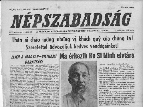 Hazánkba érkezik Ho Si Minh elvtárs