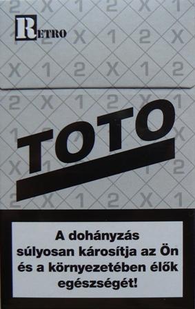 Retro Toto cigaretta