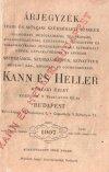 Kann és Heller árjegyzék