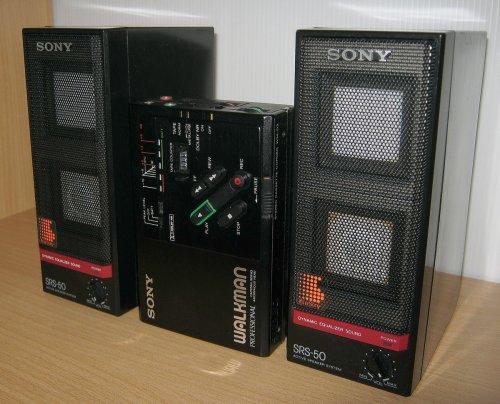 Sony SRS-50 mini aktiv APM hangsugárzó WM-D3C-vel.