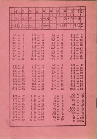 Általános iskolai számtan füzet