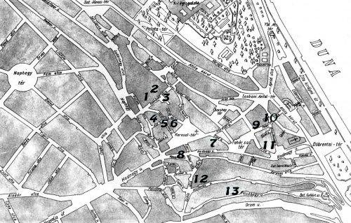 Tabán térképe