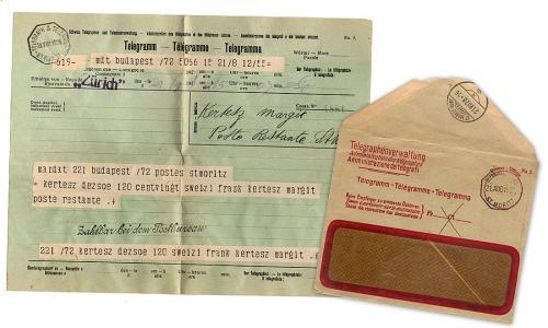Távirati pénzküldés St.Moritz-ba