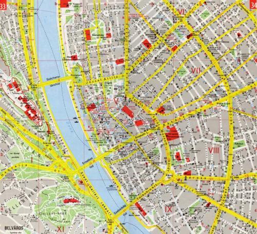 Budapesti térképrészlet (belváros)