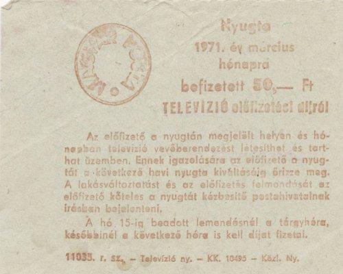 Televízió rádió előfizetési számla