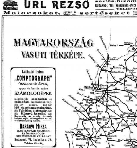Nagy-Magyarország vasúti térképe 1.