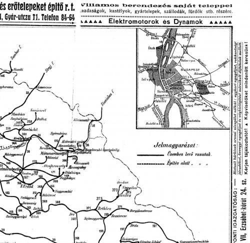 Nagy-Magyarország vasúti térképe 3.