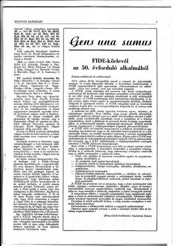 Ötven éves a FIDE