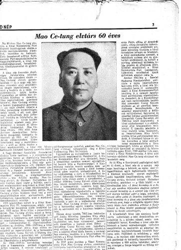 Mao Ce Tung hatvan éves
